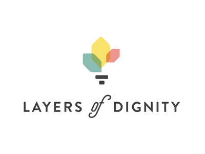 Layers of Dignity Logo layers of dignity survivor sexual assault awareness flower torch identity logo