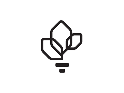 Layers of Dignity Logo, BW survivor awareness flower torch monoline identity logo