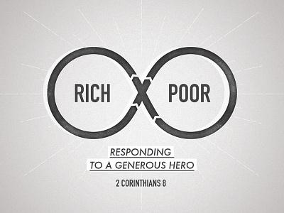 Rich Poor sermon series church generosity corinthians grayscale