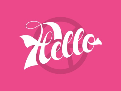 Hello vector pro corporate pink cursive handwriting professional clean dribbble script font font script hello branding design brand logo lettering typography type