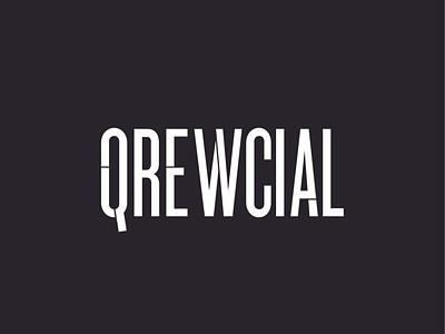 Qrewcial american usa logotype dark night nightlife city urban new york city nyc handlettering lettering typography type branding workmark brand logo crucial qrewcial