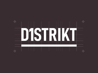 D1strikt corporate professional grid modern 1st los angeles la nyc city font smart brand logo branding lettering typography type clever d1strikt district