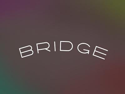 Bridge letter art brown letter symbol innovative word art wordmark type art witty smart playful lettering brand branding typography type logo conceptual clever bridge