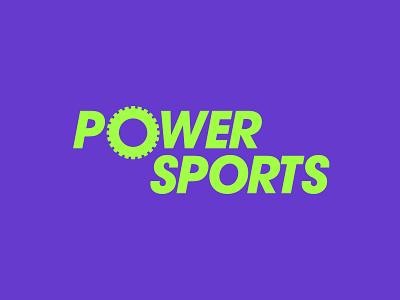 PowerSports wheel inspiration purple illustration lettering type design logotype professional clever simple modern motorcycles dirtbikes powersports atv typography brand logo branding