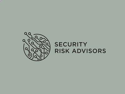 Security Risk Advisors corporate modern hacking web internet online binary illustration type typography cyber security cyber computer tech logotype branding brand logo technology digital