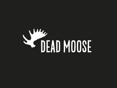 Dead Moose outdoors punk nature adventure clothing explore hand drawn handlettered illustration lettering type typography brand branding logo rustic antlers moose dead dead moose