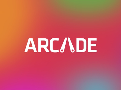 Arcade identity wordmark logotype barcade pinball machine red game professional clever simple illustration typography brand logo branding type pinball videogames gaming arcade