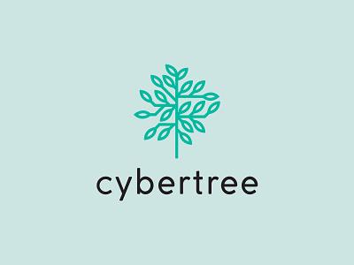 cybertree inspiration growth icon logotype logo design professional digital internet business technology tech tree illustration lettering type typography brand branding logo cyber