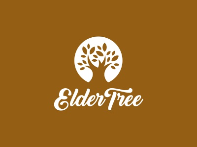 ElderTree organic bakery handcrafted handmade rustic co-op healthy health produce food autumn artisanal tree illustration type logotype typography branding brand logo