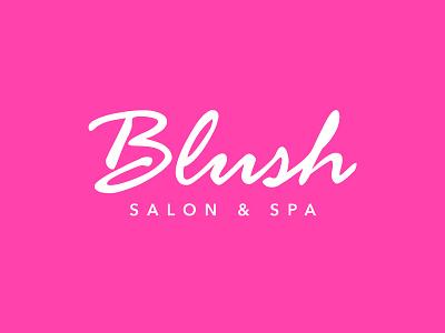 Blush Salon hand drawn pink inspiration stylist skincare spa font script handcrafted handpainted handmade beauty health salon logotype type typography branding brand logo