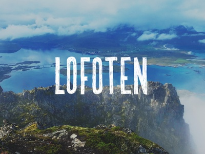 Lofoten Norway fjord mountain hand made rustic blue travel adventure explore arctic handlettering lettering hand drawn north norway logotype type typography branding brand logo