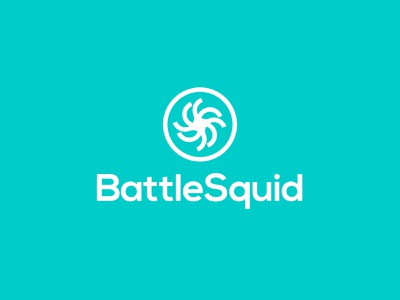 BattleSquid internet inspiration professional modern digital corporate ux ui app technology tech software squid illustration logotype type typography branding brand logo