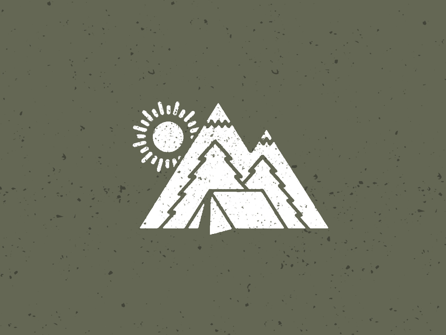 Rather be Camping tree drawing illustration scene nature logo hike wilderness mountain tent camp camping