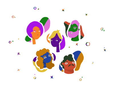 Face Off design loading stickers sticker mule dribbble balloon download heads faces people sketch procreate cute character design illustration character
