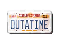 DeLorean license plate | BTTF