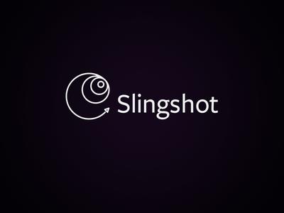 Slingshot logo logo mark branding slingshot spaceship rocket