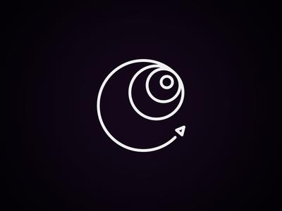 Slingshot logo : Mark closeup logo mark rocket spaceship space