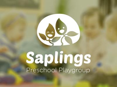 Saplings playgroup logo kids plants sapling education playgroup school logo