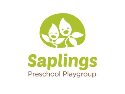 Saplings Logo - Colour version kids plant education sapling playgroup character illustration design branding identity logo