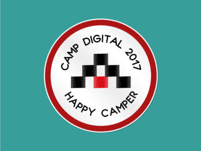 Happy Camper - Camp Digital 2017 sticker patch stitched camping sigma campdigital giveaway custom sticker