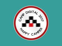 Happy Camper - Camp Digital 2017 sticker