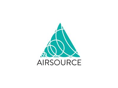Airsource logo logo branding triangle circles geometry mobile