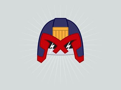 Judge Dredd helmet helmet judge dredd vector illustration playoff rebound