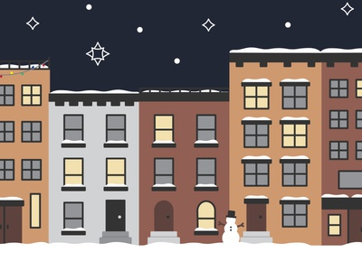 City Lights & Snowy Nights