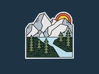Mountain Sticker - Hidden Lake, Montana