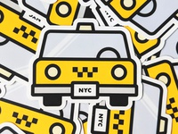 NYC Cab Sticker