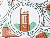 East Lansing, Michigan Sticker