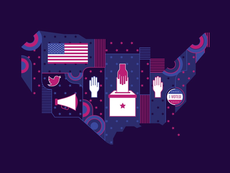 The 2020 Election Means Your Nonprofit's Job Just Got Harder graphic design illustration