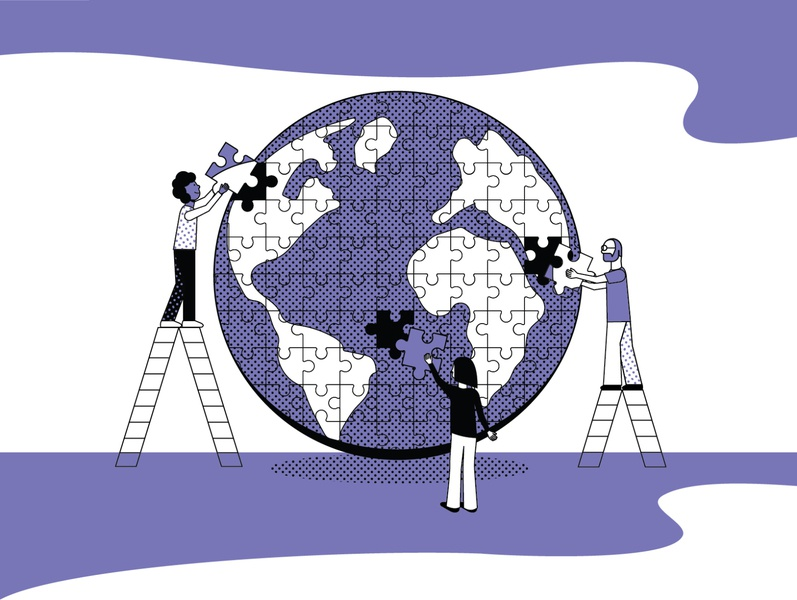 To Solve the World's Problems, Start by Building Consensus design graphic design illustration illustrator