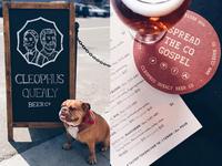 Chalkboard Art & Coasters, Beers & Dogs.