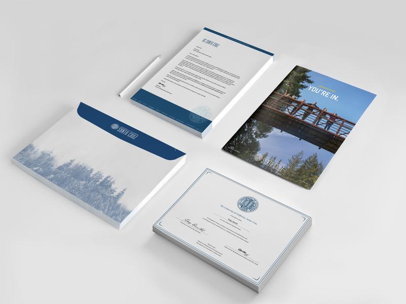 University of Santa Cruz Admissions Packet print design design graphic design