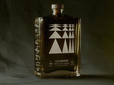 Vildmark — Green Tea label bottle label glass whiskey emboss bottle