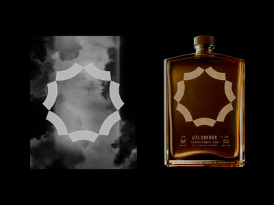 Add'l Vildmark Illustrations branding packaging logotype seven sun dandelion nature illustration monoline whiskey glass bottle flower