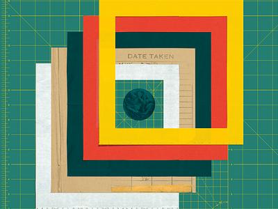 AIGA Design Camp square layers poster event collage
