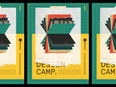 AIGA Design Camp 2019 print poster paper collage