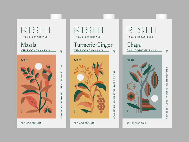 Rishi Concepts sun etc concept packaging chai