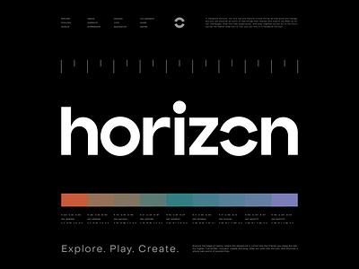 Facebook Horizon horizon sun guidelines branding logotype logo