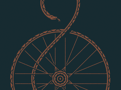 Don't Tread on Me spokes gears gadsden bike snake artcrank cotton bureau
