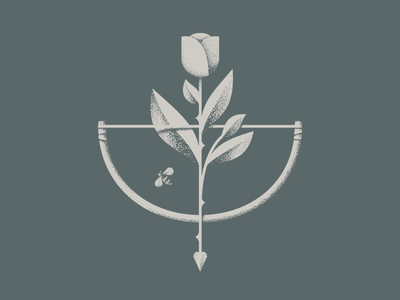 Rose Garden archer thorns leaves bee bow  arrow