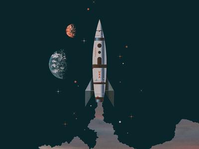 Rocket etc dumb planets usa retro space