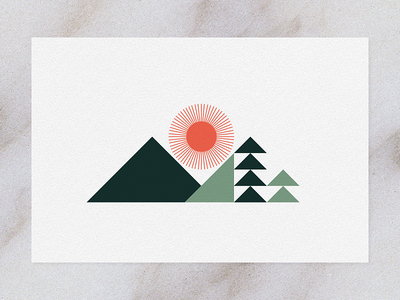 Disappointment Mountain shapes geometry studio mpls letterpress trees sun mountain