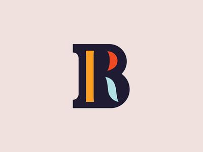 B-R Monogram etc logo shapes colors r b monogram