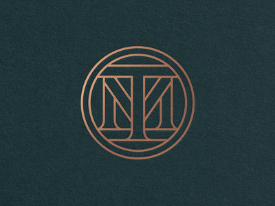 Tenth Muse Monogram monoweight m t mark monogram logo circle