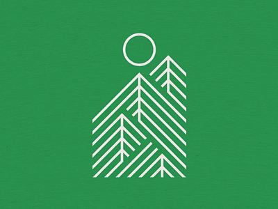 Onward & Upward outdoors forest shirt cotton bureau lines sun trees