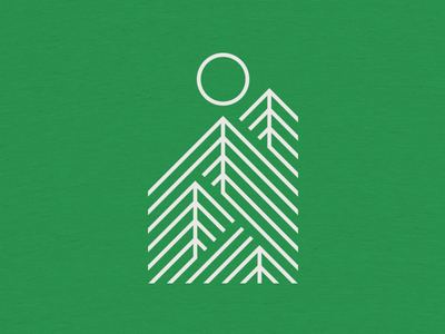 Onward & Upward outdoors forest shirt cotton bureau lines sun trees
