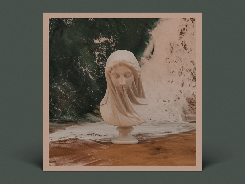 Hair etc veil sand waves cover album music video greek ocean statue